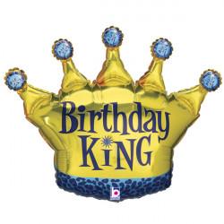"CROWN BIRTHDAY KING 36"" SHAPE C PKT"
