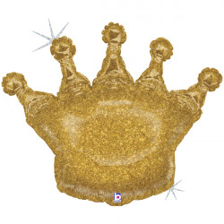 "GLITTERING CROWN 36"" HOLO SHAPE D PKT"
