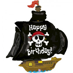 "PIRATE SHIP BIRTHDAY 46"" SHAPE F PKT"