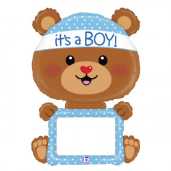 "BEAR BABY BOY 48"" REMARKABLE SHAPE PKT"