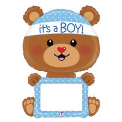"BEAR BABY BOY 48"" REMARKABLE SHAPE PKT"