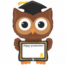 "OWL GRADUATION 46"" REMARKABLE SHAPE PKT"