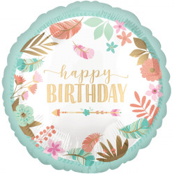 BOHO BIRTHDAY GIRL STANDARD S40 PKT