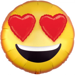 EMOTICON WITH HEART EYES 3D EZ-FILL SHAPE P60 PKT