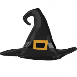 "BLACK WITCH HAT SATIN SHAPE P30 PKT (39"" x 27"")"