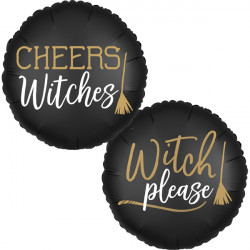 SATIN CHEERS WITCHES STANDARD S40 PKT