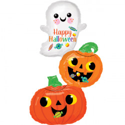 "GHOST & PUMPKIN STACK SHAPE P35 PKT (22"" x 37"")"