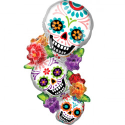 SUGAR SKULLS STACK SHAPE P35 PKT