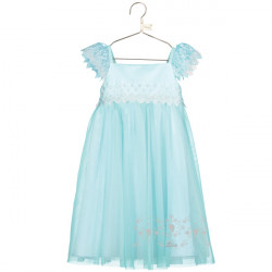 ELSA AQUA LACE SMOCK DRESS 3-4 YEARS