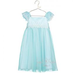 ELSA AQUA LACE SMOCK DRESS 3-4 YEARS