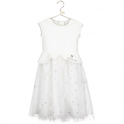 CINDERELLA WHITE SEQUIN & GLITTER STAR DRESS 5-6 YEARS