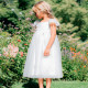 CINDERELLA WHITE & SILVER LACE DRESS 3-4 YEARS