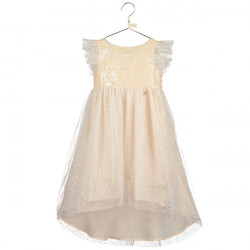 TINKER BELL SPARKLE DRESS WITH DIPPED HEM 5-6 YEARS