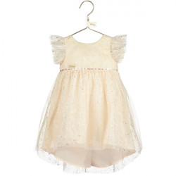 TINKER BELL BABY SPARKLE DRESS WITH DIPPED HEM 6-12 MONTHS