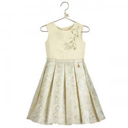 BELLE PLEATED JACQUARD DRESS 9-10 YEARS