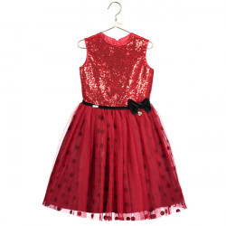 MINNIE MOUSE GLITTER SEQUIN DRESS 5-6 YEARS