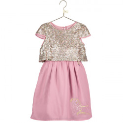 RAPUNZEL CHIFFON SEQUIN DRESS 5-6 YEARS