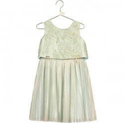 JASMINE JACQUARD PLEATED DRESS 7-8 YEARS