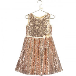 BELLE ALL OVER GOLD SEQUIN DRESS 7-8 YEARS