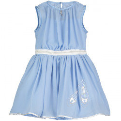 CINDERELLA POWDER BLUE CHIFFON DRESS 5-6 YEARS