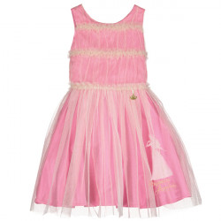 AURORA PINK DRESS WITH RUFFLE BODICE 3-4 YEARS