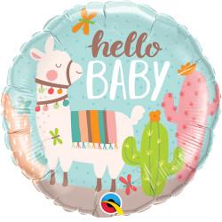 """HELLO BABY LLAMA 18"""" PKT"""