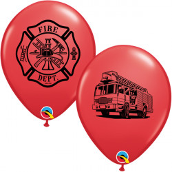 """FIRE DEPT 11"""" RED (25CT) LAC"""