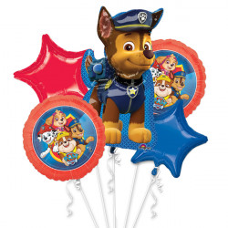 PAW PATROL LEAPING 5 BALLOON BOUQUET P75 PKT (3CT)