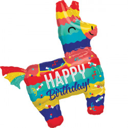 PINATA PARTY BIRTHDAY SHAPE P35 PKT