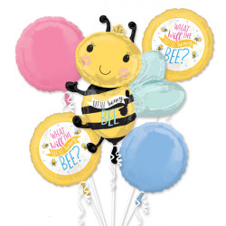 WHAT WILL IT BEE 5 BALLOON BOUQUET P75 PKT (3CT)