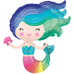 COLOURFUL MERMAID SHAPE P35 PKT