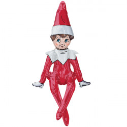 "SITTING ELF ON THE SHELF MULTI BALLOON P50 PKT (29"" x 17"")"