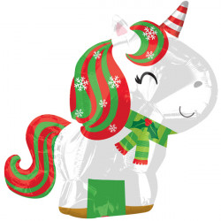UNICORN CHRISTMAS JUNIOR SHAPE S40 PKT