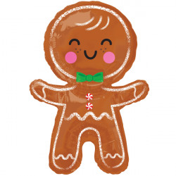 HAPPY GINGERBREAD MAN SHAPE P30 PKT