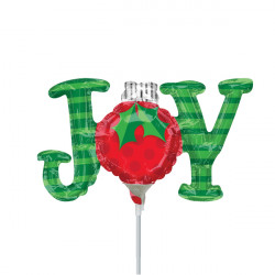 JOY ORNAMENT MINI SHAPE A30 INFLATED WITH CUP & STICK