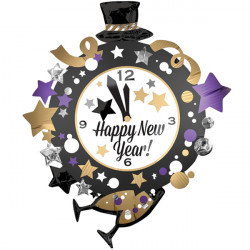 CLOCK NEW YEAR SHAPE P35 PKT