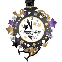 "CLOCK NEW YEAR SHAPE P35 PKT (30"" x 35"")"