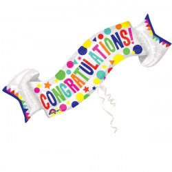 CONGRATULATIONS BANNER SHAPE FLAT SALE