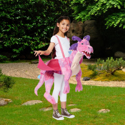 PINK DRAGON RIDE ON AGE 3+ ONE SIZE