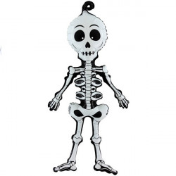 "SCARY SKELINGTON LINKY 29"" AIR-FILLED SHAPE A1 PKT"