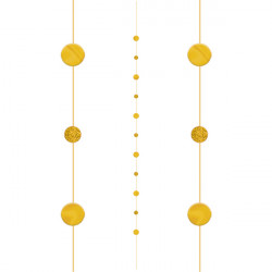GOLD CIRCLES 1.82m BALLOON FUN STRINGS
