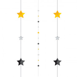 BLACK / SILVER / GOLD 1.82m BALLOON FUN STRINGS