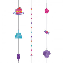 CUPCAKES 1.82m BALLOON FUN STRINGS