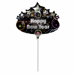 MARQUEE HAPPY NEW YEAR MINI SHAPE SALE INFLATED WITH STICK & CUP