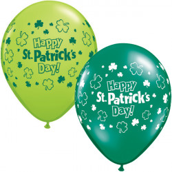 "ST PATRICK'S DAY 11"" LIME GREEN & EMERALD GREEN (25CT)"