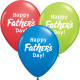 """HAPPY FATHER'S DAY 11"""" DARK BLUE, RED & LIME (25CT)"""