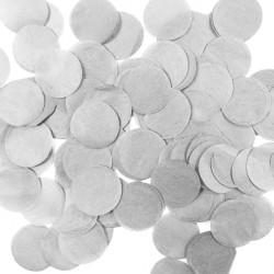 GREY 25MM ROUND PAPER CONFETTI 100G