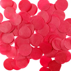 RED 25MM ROUND PAPER CONFETTI 100G