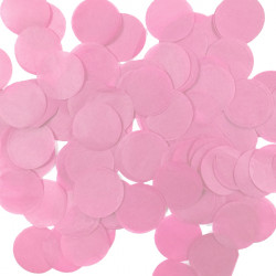 LIGHT PINK 25MM ROUND PAPER CONFETTI 100G