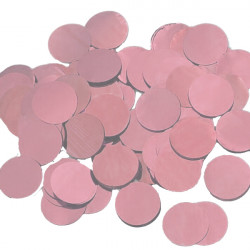 ROSE GOLD 25MM ROUND METALLIC CONFETTI 100G